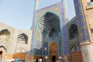 The Jameh Mosque of Isfahan is one of the oldest mosques in Iran, 771 C.E. (Photo by Jeremy Iggers)