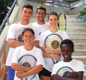 Athletes from the Israel Tennis Center. (Courtesy of the Israel Tennis Center).