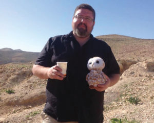 Ryan Bellerose, a Métis from northern Alberta, was hired by B'nai Brith Canada to serve as its advocacy coordinator for western Canada. He is seen here in Israel's Negev Desert. (Photo: Courtesy of Ryan Bellerose).