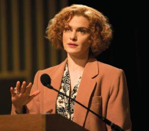 Rachel Weisz portrays writer and historian Deborah Lipstadt in Denial. (Photo: Laurie Sparham/Bleecker Street).