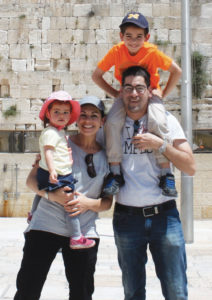 Arielle Kaufman with her husband Ohad Ludomirsky and their children. (Courtesy of HMJDS)